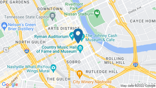 Hilton Nashville Downtown Map