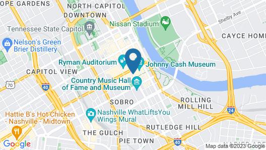 Hilton Nashville Downtown Map