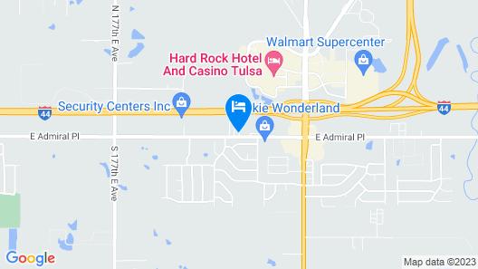 Motel 6 Tulsa, OK Map