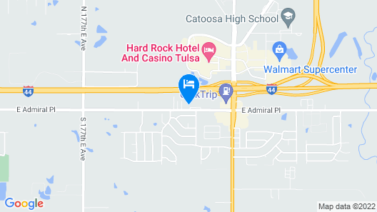 GLo Best Western Tulsa East Route 66 Map