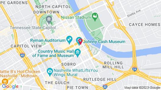 Moxy Nashville Downtown Map