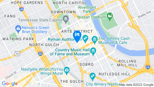 Renaissance Nashville Hotel Map