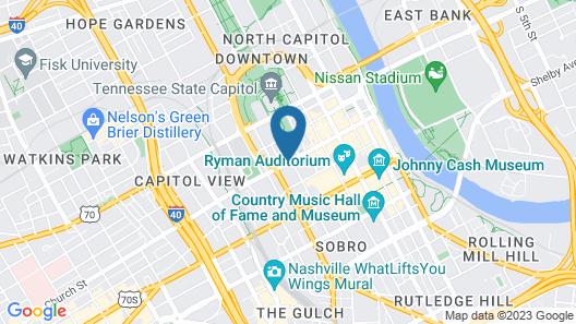 Homewood Suites by Hilton Nashville Downtown Map