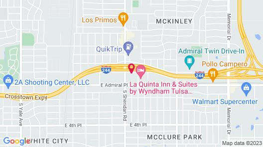 OYO Hotel Tulsa N Sheridan Rd & Airport Map