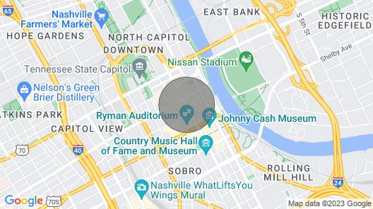 Stay Like a Local! 1.5 Blocks to Broadway!! Johnny Loft, Music City Loft Nashville! Map
