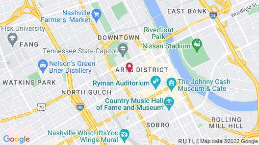 Sheraton Grand Nashville Downtown Map