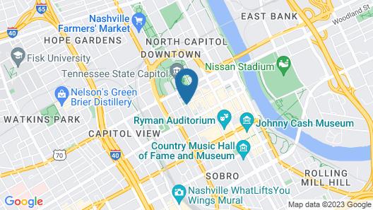 Sheraton Grand Nashville Downtown Map