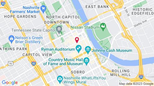 Courtyard By Marriott Nashville Downtown Map
