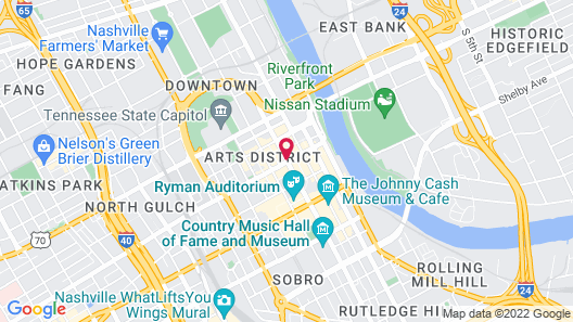 Noelle, Nashville, a Tribute Portfolio Hotel Map