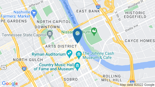 Music City Guest House Map