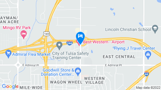 Best Western Airport Map