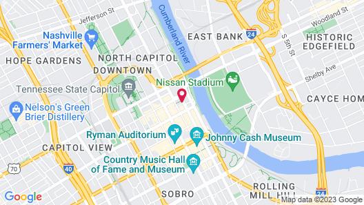 21c Museum Hotel Nashville Map