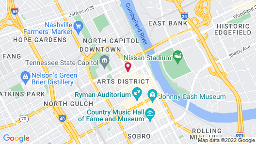 DoubleTree by Hilton Nashville Downtown Map