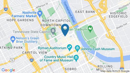 DoubleTree by Hilton Nashville Downtown Map