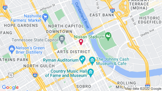 Hotel Indigo Nashville, an IHG Hotel Map