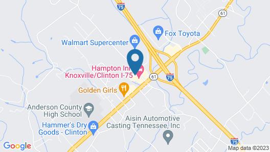 Holiday Inn Express Knoxville-Clinton, an IHG Hotel Map