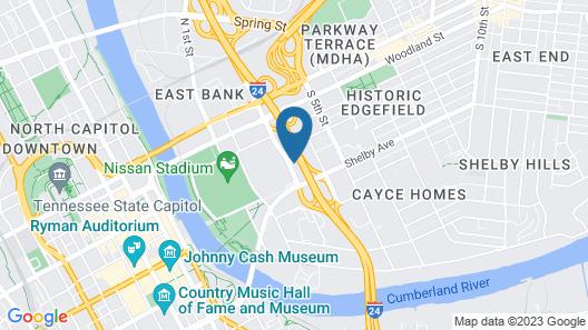 La Quinta Inn & Suites by Wyndham Nashville Downtown / Stadium Map