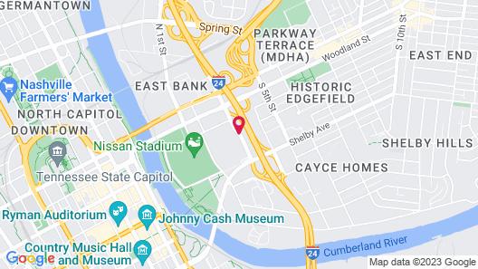 Quality Inn Nashville Downtown - Stadium Map