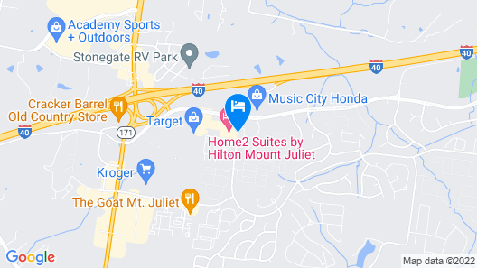 Home2 Suites Mt. Juliet, TN Map