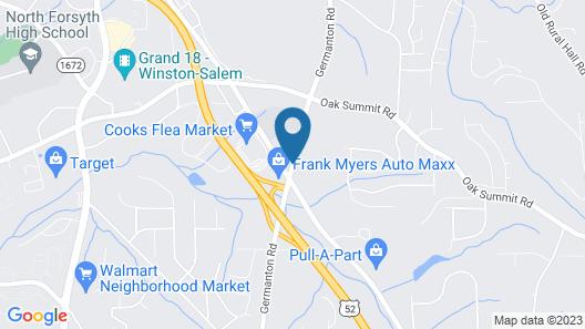 Days Inn by Wyndham Winston Salem North Map