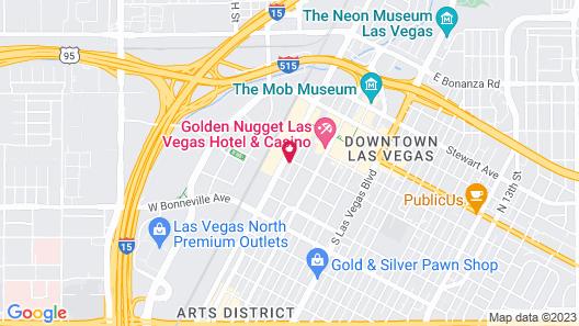 Bridger Inn Hotel Las Vegas Map