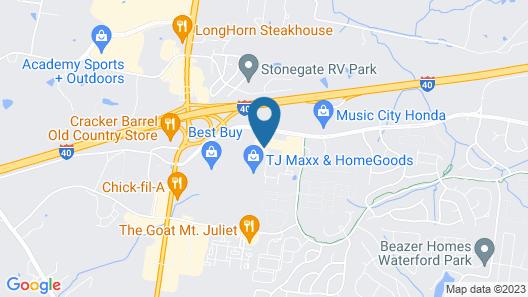 Staybridge Suites Mt. Juliet - Nashville Area, an IHG Hotel Map