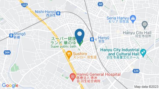 Route-Inn Grantia Hanyu Spa Resort Map