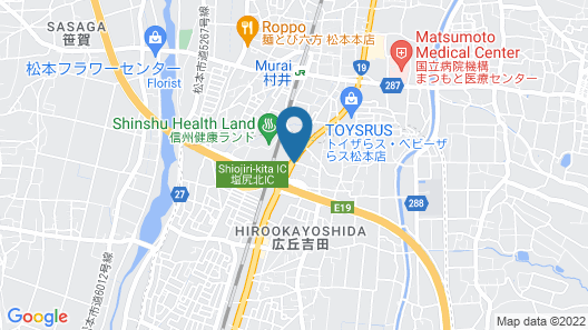 AB Hotel Shiojiri Map