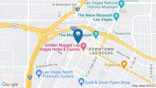 Plaza Hotel and Casino - Las Vegas Map