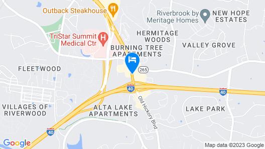 Vista Inn & Suites Nashville Airport East Map
