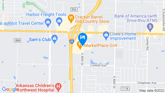 Holiday Inn Springdale/Fayetteville Area Map