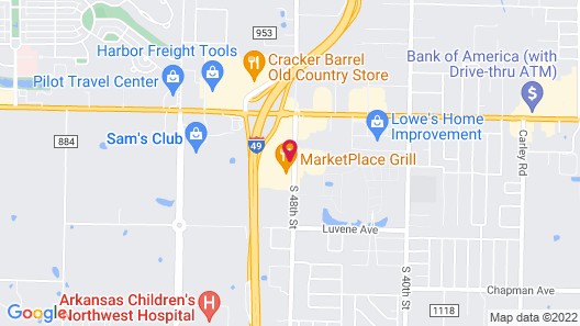 Holiday Inn Springdale/Fayetteville Area, an IHG Hotel Map