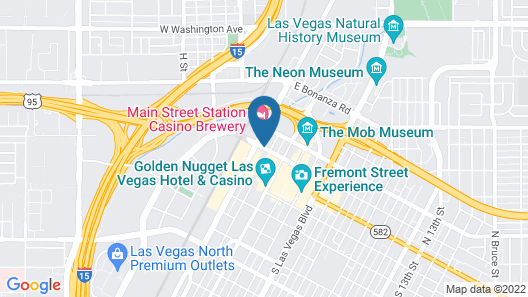 California Hotel and Casino Map