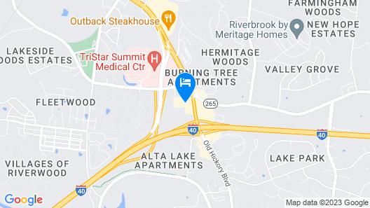 Super 8 by Wyndham Hermitage Nashville Map
