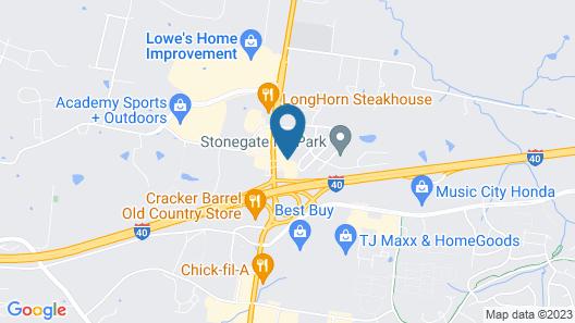 Comfort Suites Mt. Juliet - Nashville Area Map