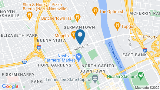 Mint House in Germantown Map