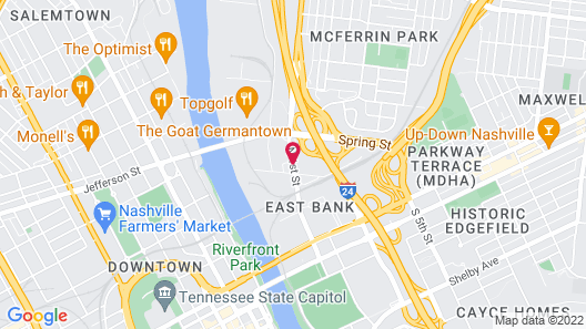 Clarion Hotel Nashville Downtown - Stadium Map
