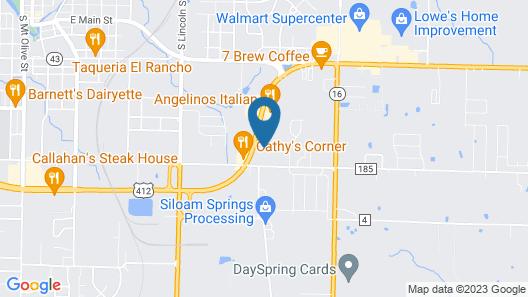Super 7 Inn Siloam Springs Map
