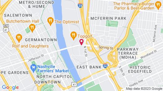 Knights Inn Nashville Map