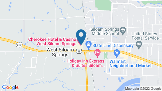 Cherokee Casino & Hotel West Siloam Springs Map