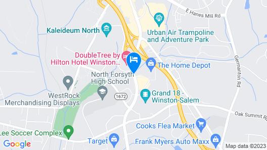 Quality Inn University Map