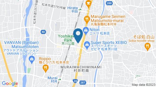 Garden Hotel Matsumoto Map