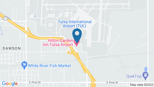 Hilton Garden Inn Tulsa Airport Map