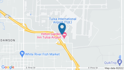 Clarion Inn Tulsa International Airport Map