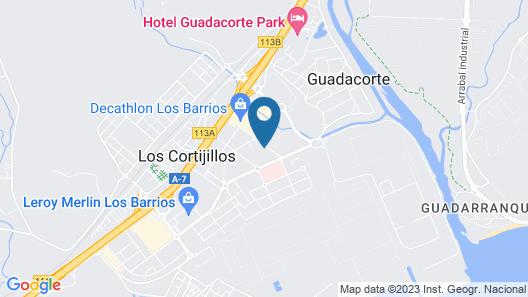 Holiday Inn Express Campo De Gibraltar - Barrios Map