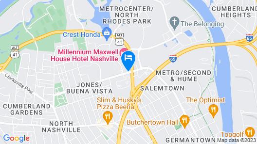 Millennium Maxwell House Nashville Map