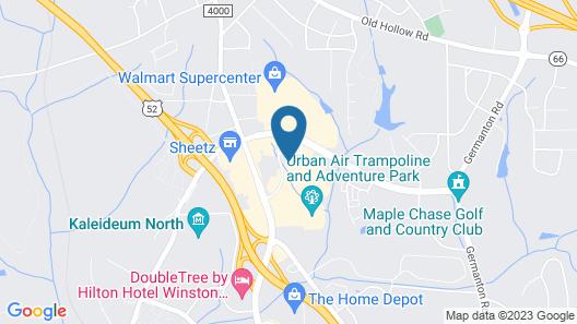 Hampton Inn & Suites Winston-Salem/University Area, NC Map