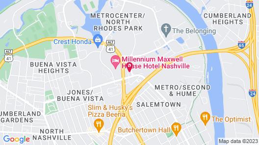 Fairfield Inn & Suites Nashville MetroCenter Map