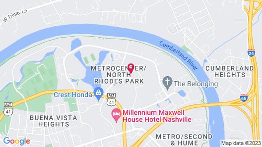 Candlewood Suites Nashville - Metro Center, an IHG Hotel Map