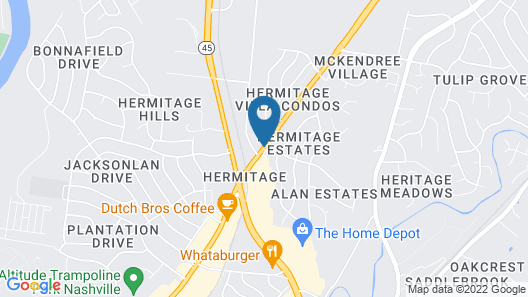 Hermitage Inn Map